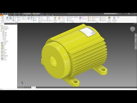 INVENTOR 2019 - SIMPLE ELECTRIC MOTOR FRAME