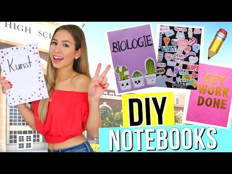 DIY NOTEBOOKS BACK TO SCHOOL ✏️ Back to School 2018 📚 einfache Back to School DIYs