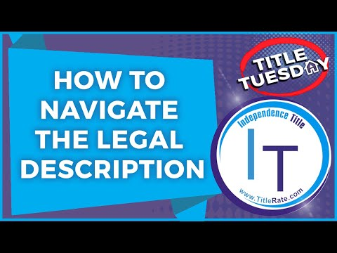 Episode 71: How To Navigate The Legal Description on Florida Real Estate