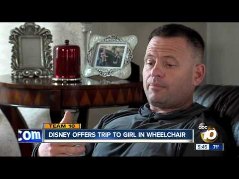 Thumbnail: Disney offers trip to girl in wheelchair