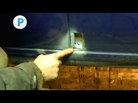 Ремонт сгнившего угла двери на авто