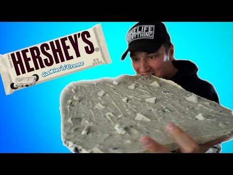 Biggest HERSHEY BAR in the World (Epic Alert) - COOKIES AND CREAM DIY