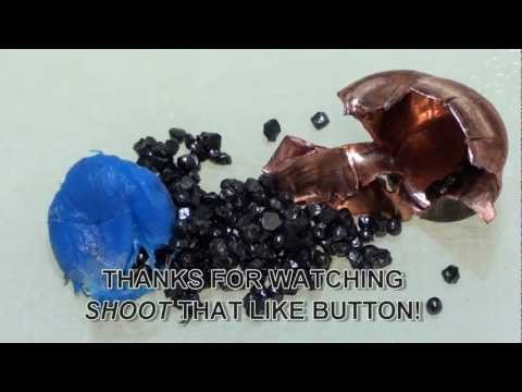 357 Magnum Glaser Safety Slug Blue Ballistic gel test