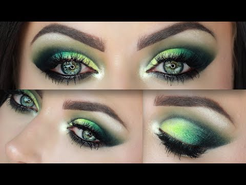 Emerald Smokey Green Cut Crease Makeup Tutorial Youtube