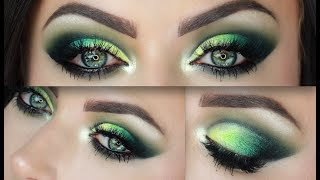 Emerald Smokey Green Cut Crease Makeup Tutorial