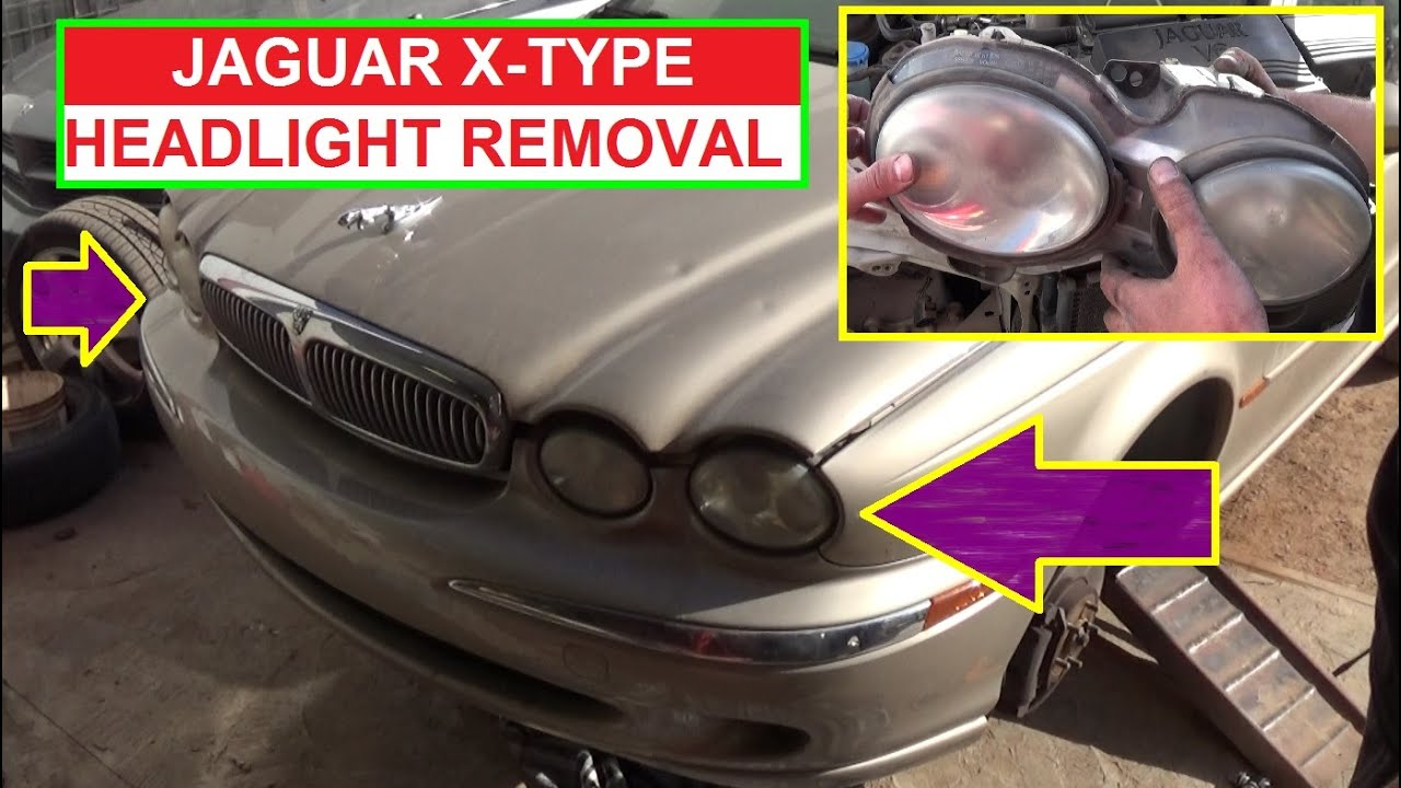 jaguar x type headlight removal and replacement how to remove the headlight on x type [ 1394 x 786 Pixel ]