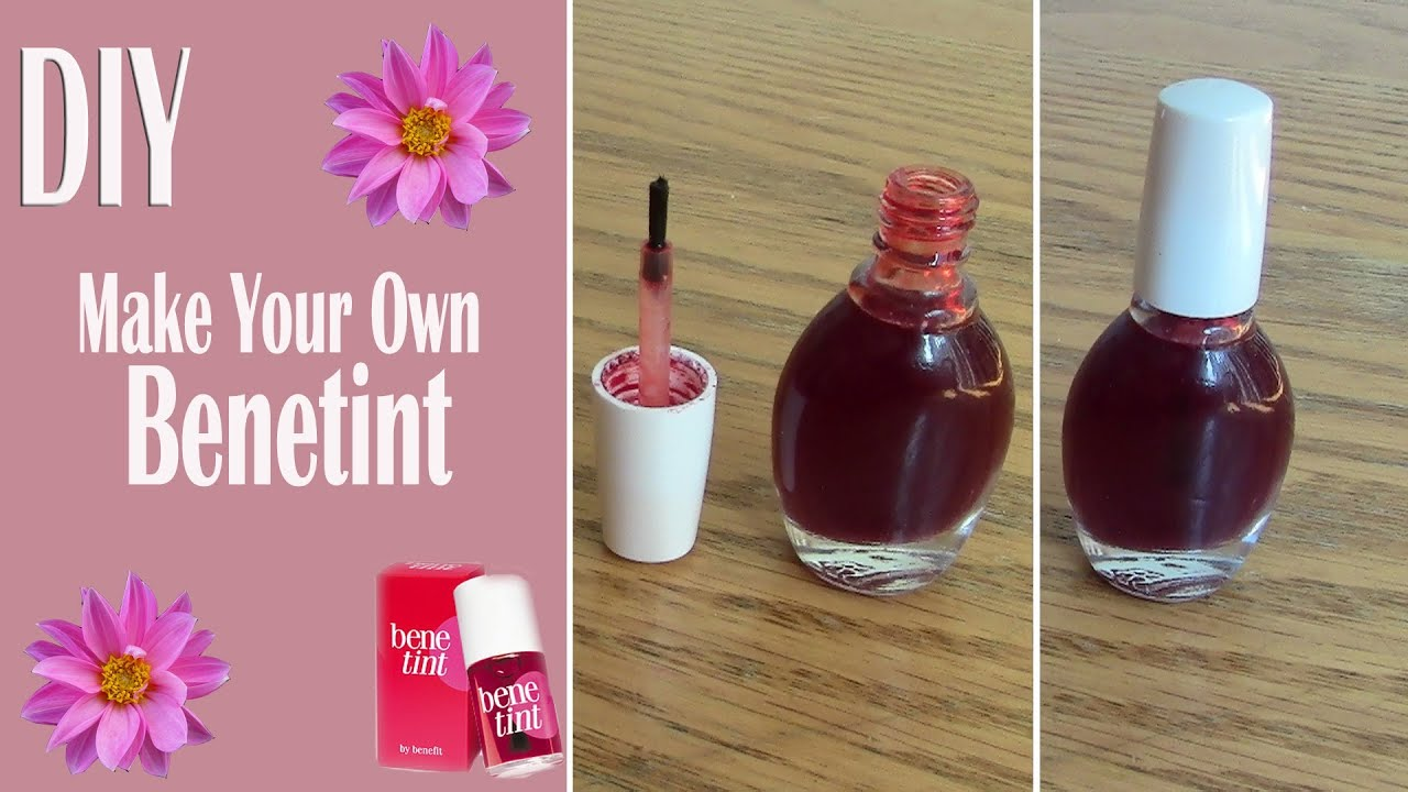 Diy Benetint Red Lip Stain Youtube