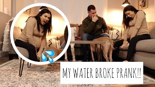 My Water Broke Prank On Husband !! *UNEXPECTED REACTION*