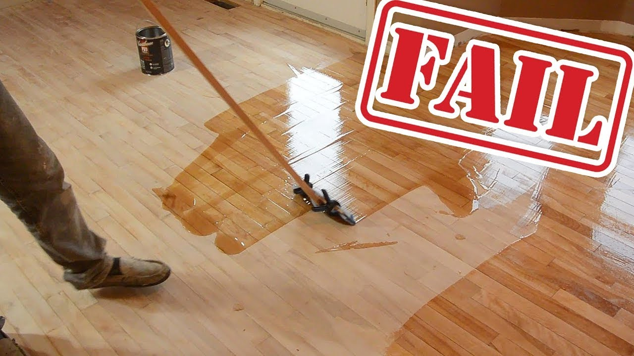 Wood Floor Refinishing FAILS