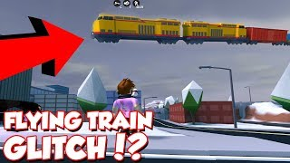 *OMG* How to FLYING TRAIN GLITCH in ROBLOX JAILBREAK!
