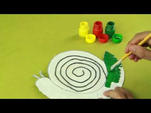 Art and Craft -paper plate snail  sc 1 st  YouTube & Art and Craft -paper plate snail - YouTube