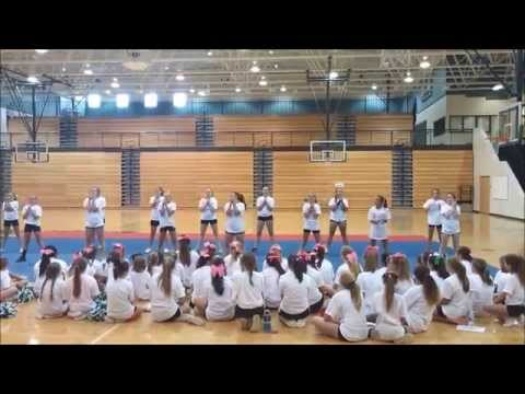 Liberty and her Pickens County Middle School Cheer Team June 2015