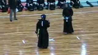 20100429香川県代表の二刀剣士を応援に行きました。 二回戦.