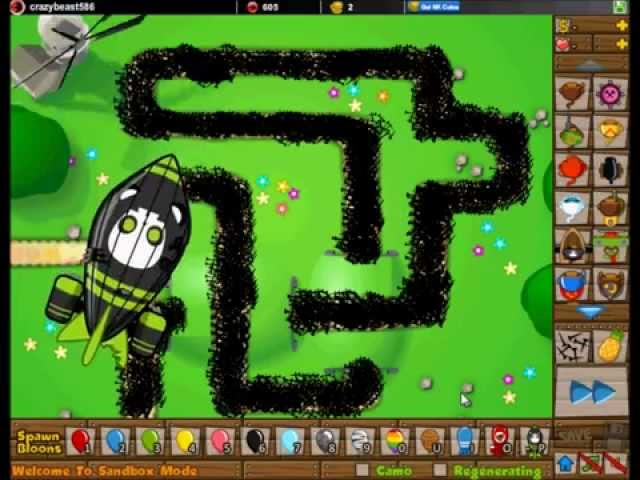 Bloons Tower Defense 5 | Road Spikes vs ZOMG Balloon