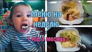 Меню на неделю ребенка в 1 год и 3 месяца / Дневник питания