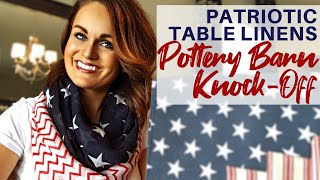 Pottery Barn Knock Off: 4th Of July Diy Budget Table Decor