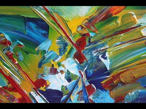 Modernes Abstraktes Acrylbild Modern Abstract Acrylic Painting
