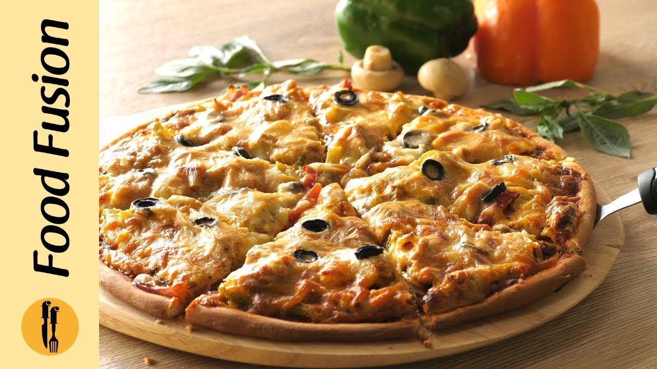 Chicken Fajita Thin Crust Pizza Recipe By Food Fusion