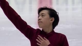 2016 ISU Junior Grand Prix - Tallinn - Men Short Program - Vincent ZHOU USA