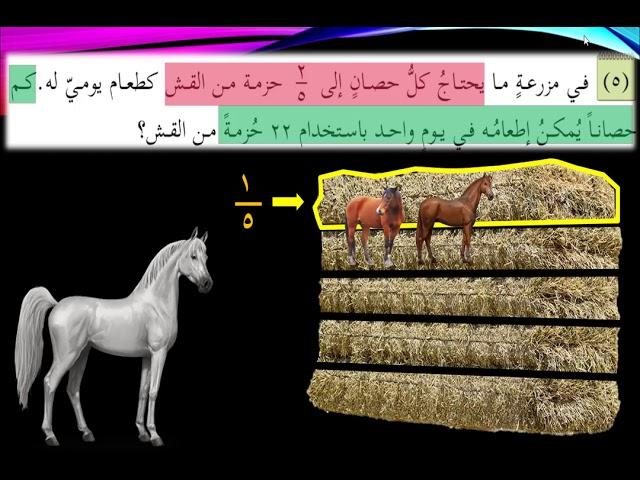 المثال الخامس - كيف نفكر عند حل المسائل الكلامية - الصف الخامس