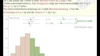 Lehrer-Online: Binomial- und Normalverteilung mit GeoGebra