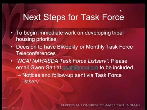 Tribal Leaders and NAHASDA: Taking Indian Housing to the Next Level in the Upcoming Reauthorization