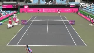 ジャパンウィメンズオープンテニス2015  女子シングルス 2回戦 クリスティーナ・マクヘイル VS 尾崎里紗