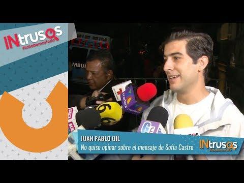 Juan Pablo Gil No Quiso Opinar Sobre El Mensaje De Sofía Castro A Peña Nieto | INtrusos