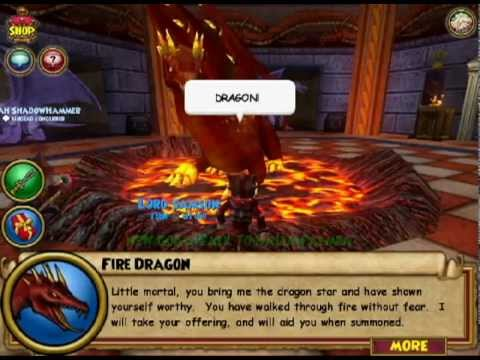 Wizard101 Fire Dragon Quest Level 48 Fire Spell Youtube