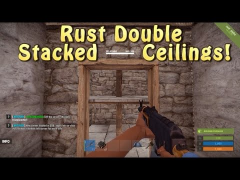 Rust Double Stacked Ceiling Base Design!