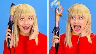 PROBLEMAS COM CABELOS CURTOS E LONGOS || Problemas e situações engraçadas com os cabelos por 123 GO!