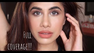 My Go-To makeup look | FULL COVERAGE FOUNDATION ROUTINE | Malvika Sitlani