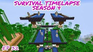 BIG Iron farm 15 min 9 stack Iron Ingot   Minecraft Survival Timelapse Season 4 Episode 32