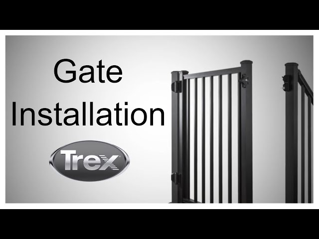 How to Install a Gate on Your Trex Deck | Trex - YouTube