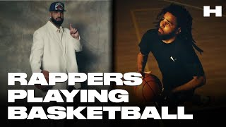 RAPPERS PLAYING BASKETBALL 2019! WHO IS THE BEST? (Quavo, J. Cole, Drake, Chance, and more!)