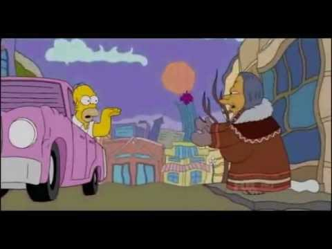 The Simpons Homer Simpson Communicating With Spirit Nature Lady Youtube