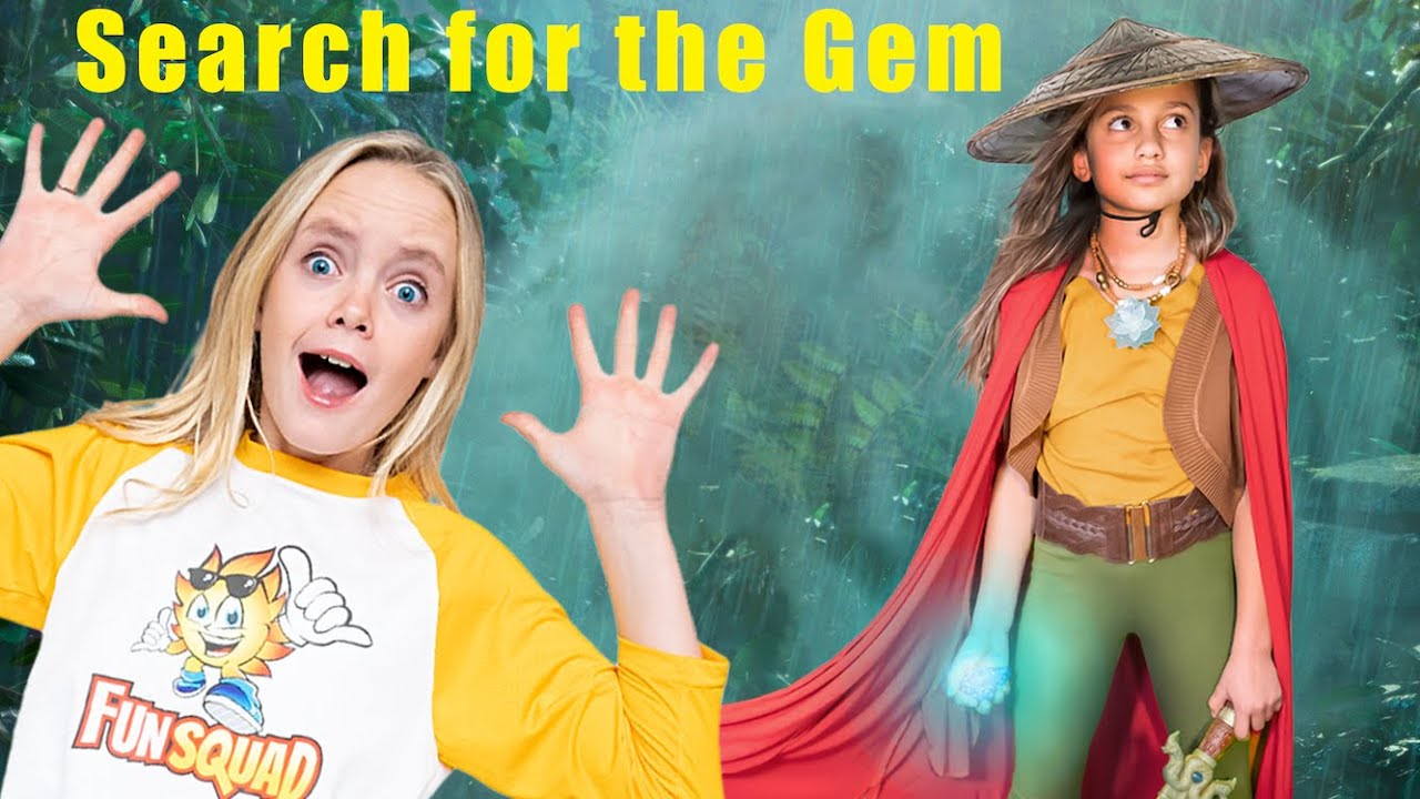 Raya and the Last Dragon! Jazzy and Raya Search for the Magical Gem on Kids Fun TV!