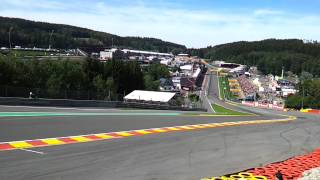 Spa 2012 Eau Rouge Gold 3. The Start. Oh My God!