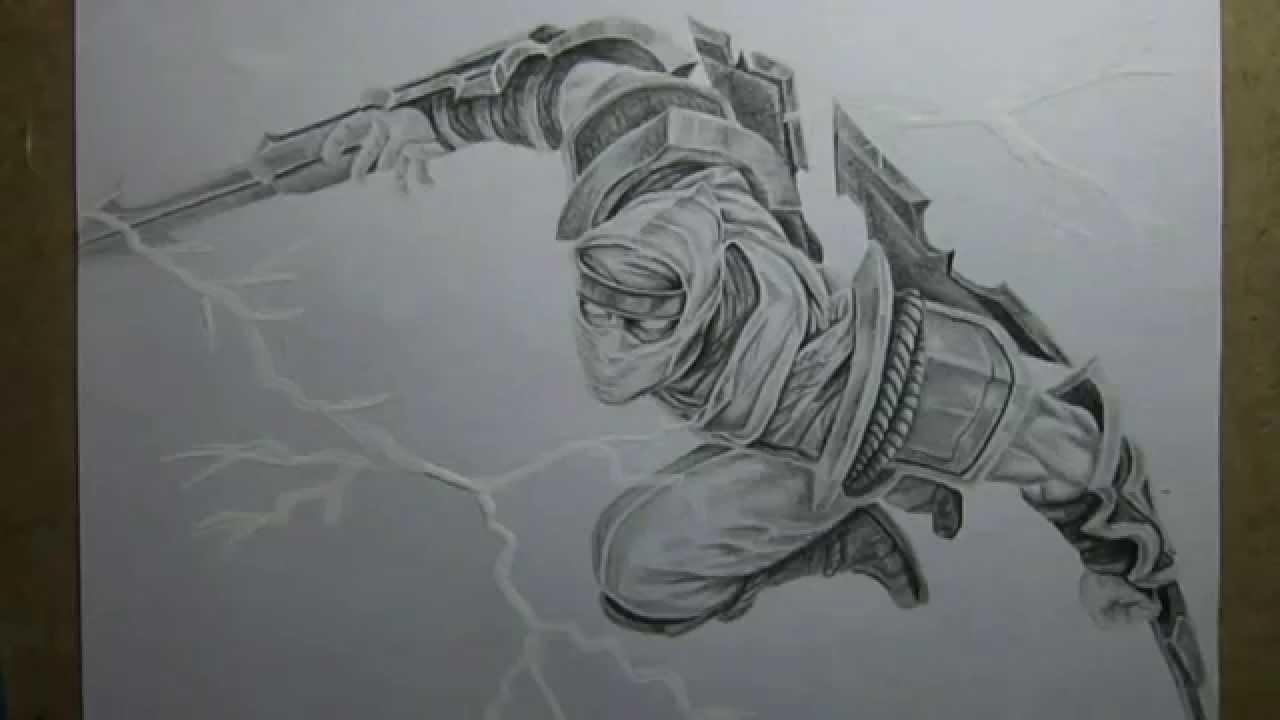 Pencil Drawing : Shockblade Zed - YouTube