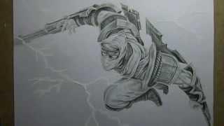 Pencil Drawing : Shockblade Zed