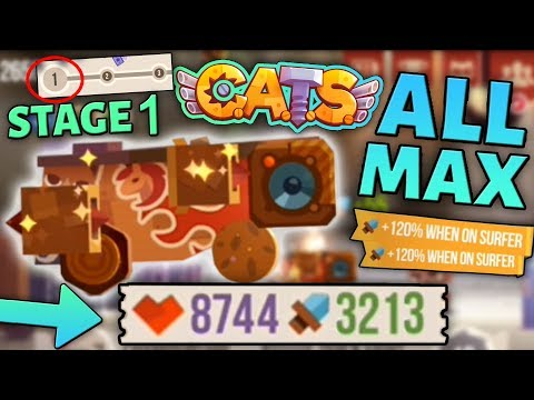 MAXING OUT A WOODEN MACHINE C.A.T.S - 5 INSTANT PROMOTIONS - Crash Arena Turbo Stars