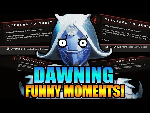 FUNNY DAWNING DESTINY 2! Hilarious Destiny 2 Black Armory Dawning Moments! Part 1