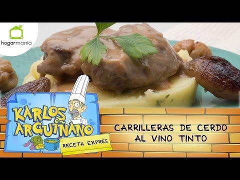 Karlos Arguiñano: Receta de Carrilleras de cerdo al vino tinto