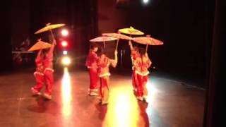 Chinese umbrella dance