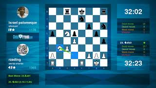 Chess Game Analysis: rzading - Israel palomeque : 1-0 (By ChessFriends.com)