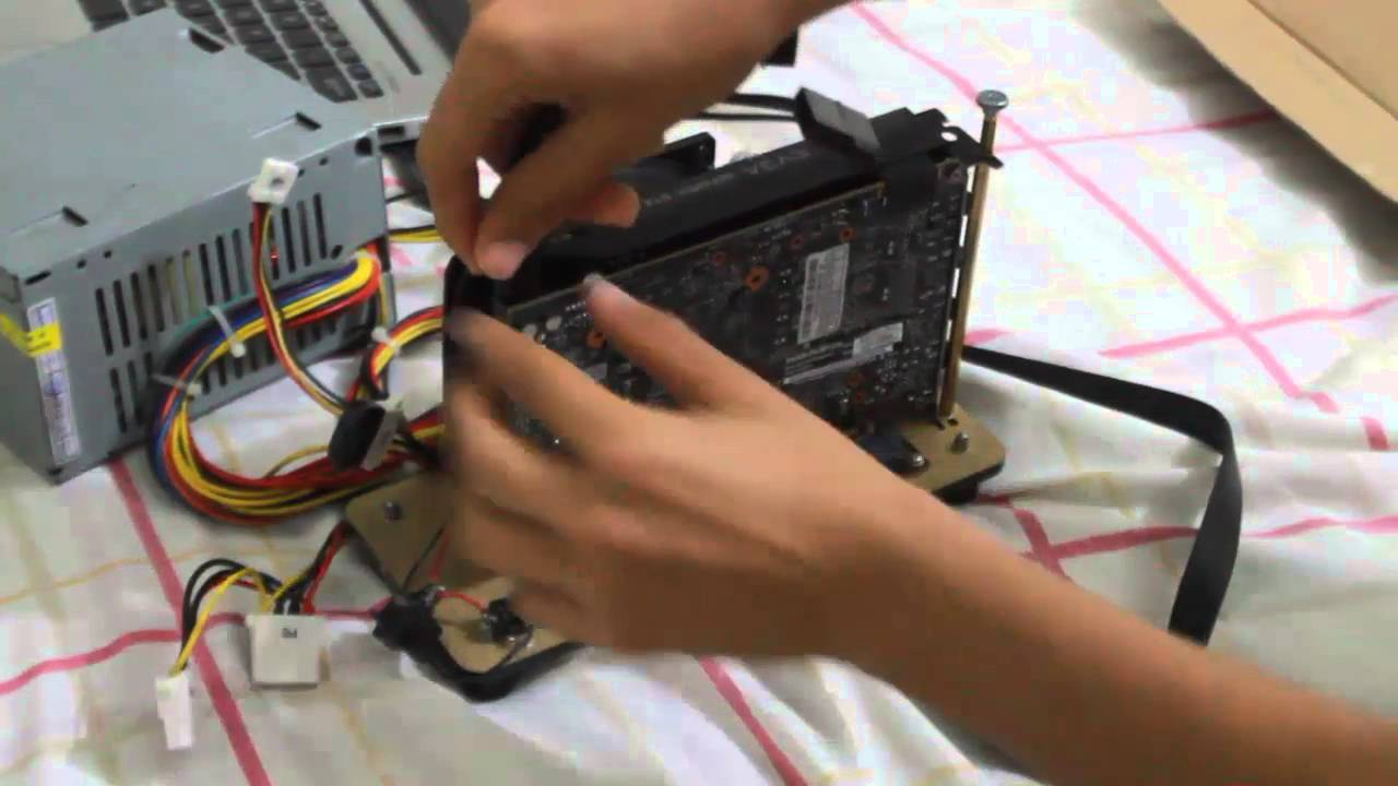 how to connect a gpu to laptop