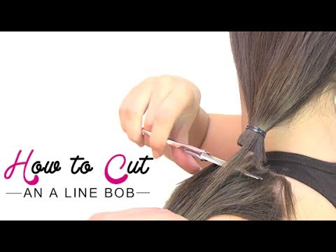 How to cut an a line bob - YouTube