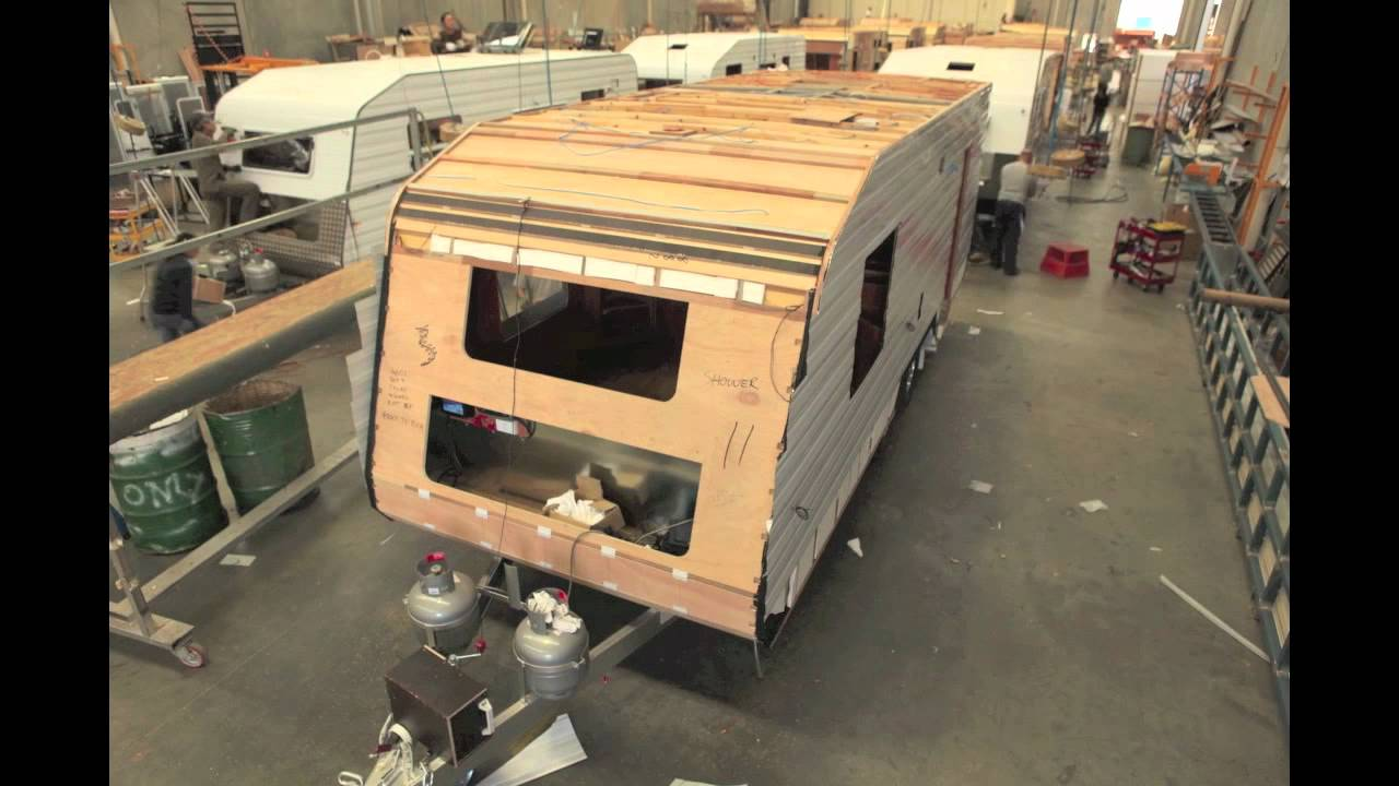 Time Lapse Caravan Construction Video - Concept Caravans - YouTube