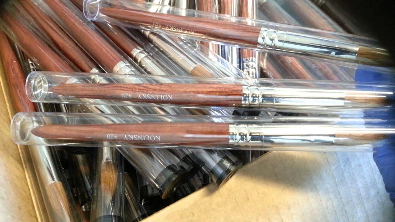Brushes For Acrylic Nails #20 Kolinsky Round Brush. - YouTube