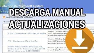 Cómo descargar actualizaciones de Windows de forma manual www.informaticovitoria.com